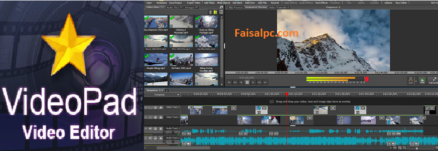 VideoPad Video Editor 8.82 Crack + Registration Code Full Version